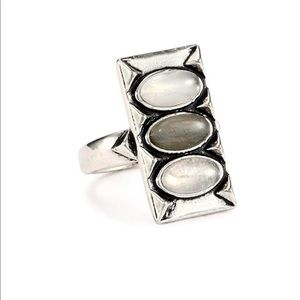 House of Harlow Moonstone and Labadorite Ring